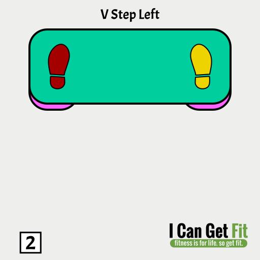 V Step Left 02 – Step Aerobics